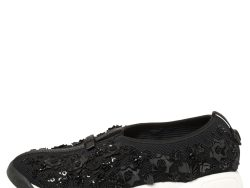 Dior Black Mesh Crystal Embellished Fusion Sneakers Size 40