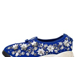 Dior Blue Mesh Fusion Embellished Slip On Sneakers Size 38.5