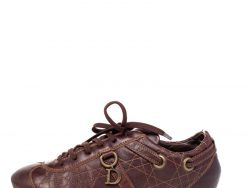 Dior Brown Leather Low Top Sneakers Size 40