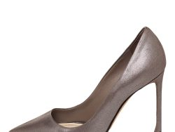 Dior Metallic Brown Nubuck Leather Cherie Pointed Toe Pumps Size 36.5