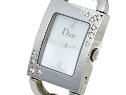 Dior Mother Of Pearl Stainless Steel Diamond Malice D78-1091 Women's Wristwatch 19 mm