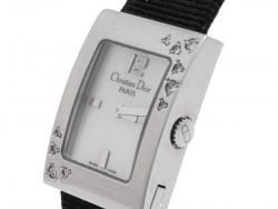 Dior Mother of Pearl Stainless Steel Diamonds Malice D78-1091 Women's Wristwatch 19 mm
