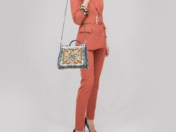 Dolce & Gabbana Multicolor Printed Leather Sicily Top Handle Bag