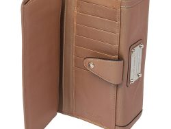 Dolce & Gabbana Brown Leather Continental Wallet