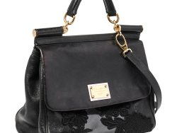 Lace And Leather Large Miss Sicily Top Handle Bag