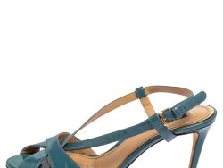 Dolce & Gabbana Blue Leather Ankle Strap Sandals Size 38
