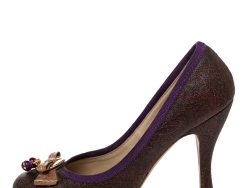 Etro Multicolor Paisley Print Coated Canvas Embellished Pumps Size 37