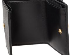 Fendi Black/Brown Zucca Leather Trifold Wallet