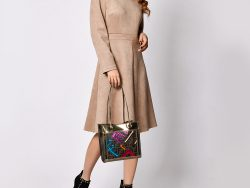 Fendi Tobacco/Gold Zucca Coated Canvas and Leather Tote