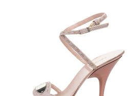 Fendi Pink Leather Ankle Strap Sandals Size 37.5