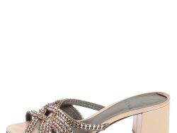 Gina Beige Patent Leather Dexie Sandals Size 36.5