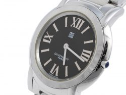 Givenchy Black Stainless Steel Corcovado REG.99773195 Unisex Wristwatch 40 mm
