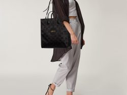 Gucci Black GG Nylon and Leather Off The Grid Long Tote
