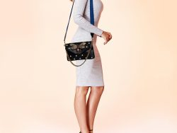 Gucci Black Leather Broadway Pearly Bee Shoulder Bag