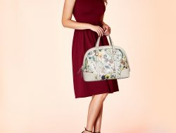 Gucci Off White Floral Print Leather Nice Satchel