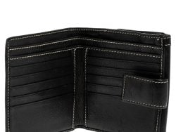 Gucci Black Leather Hysteria Compact Wallet