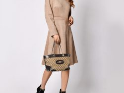 Gucci Beige/Brown GG Canvas and Leather Tote