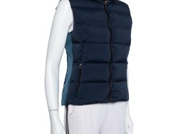 Hermes Sellier Bicolor Synthetic Quilted Sleeveless Gilet M