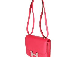 Hermes Rose Extreme Swift Leather Constance 18 Bag