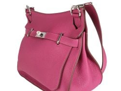 Hermes Tosca/Pink Clemence Leather Jypsiere 34 Bag