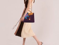Hermes Fauve/Cassis/Anemone Canvas and Leather Herbag Zip 31 Bag