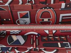 Hermes Red Leather Azap Wallet