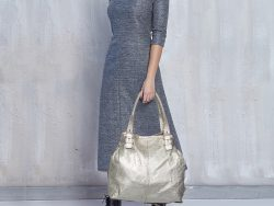 Jimmy Choo Gold Foil Leather Large Tote
