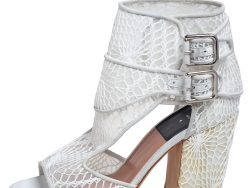 Laurence Dacade White Lace And Suede Rush Macrame Cut Out Open Toe Booties Size 36