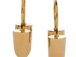 Louis Vuitton Essential V Gold Plated Hoop Earrings