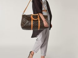 Louis Vuitton Monogram Canvas and Leather Keepall 50 Bag