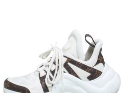 Louis Vuitton White Monogram Coated Canvas and Leather Archlight  Sneakers Size 40