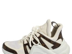 Louis Vuitton White Monogram Canvas and Mesh LV Archlight Sneakers Size 42