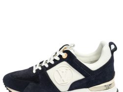 Louis Vuitton Blue/White Suede and Mesh Runaway Sneakers Size 37