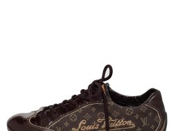Louis Vuitton Brown Monogram Min Lin Canvas And Leather Low Top Sneakers Size 39