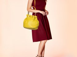Marc by Marc Jacobs Yellow Leather Too Hot To Handle Drawstring Hobo