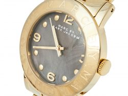 Marc By Marc Jacobs Grey Gold Tone Stainless Steel Amy MBM3273 Women's Wristwatch 36 mm