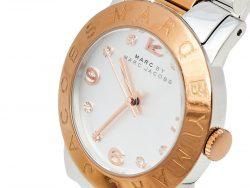 Marc By Marc Jacob Silver Two Tone Stainless Steel Amy MBM3194 Women's Wristwatch 36 mm