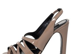 Marc Jacobs Beige Leather Strappy Slingback Sandals Size 36.5