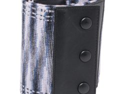 Missoni Multicolor Stretch Fabric And Leather Waist Belt 70 CM