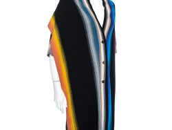 Missoni Multicolor Striped Wool Overlay Detail Oversized Cardigan S