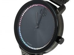 Movado Black Ion-Plated Stainless Steel and Mesh Bold Evolution MB.01.3.34.6588 Women's Wristwatch 34 mm