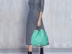 Mulberry Green Ostrich Mitzy Hobo