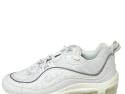 Nike White Leather and Fabric Air Max 98 Sneakers Size 36