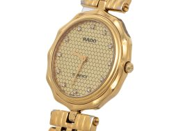 Rado Vintage Champagne Gold Tone Stainless Steel Florence 133.3662.2 Women's Wristwatch 30 mm