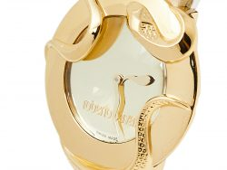 Roberto Cavalli Gold Plated Stainless Steel Snake 7251165817 Women's Wristwatch 38 mm