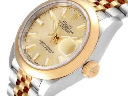 Rolex Champagne 18K Yellow Gold And Stainless Steel Datejust 279163 Women's Wristwatch 28 MM