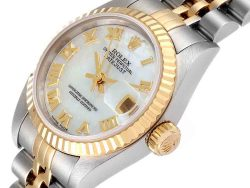 Rolex MOP Yellow Gold And Stainless Steel Datejust 79173 Women's Wristwatch 26 MM