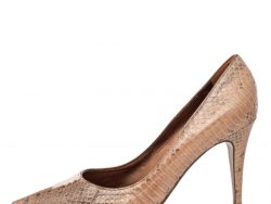 Sergio Rossi Brown Python Pointed Toe Pumps Size 36.5