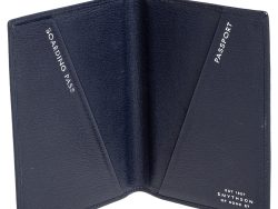 Smythson Blue Leather Ludlow Passport Cover