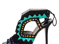 Sophia Webster Multicolor Suede And Patent Leatherr Riko Cut Out Sandals Size 40